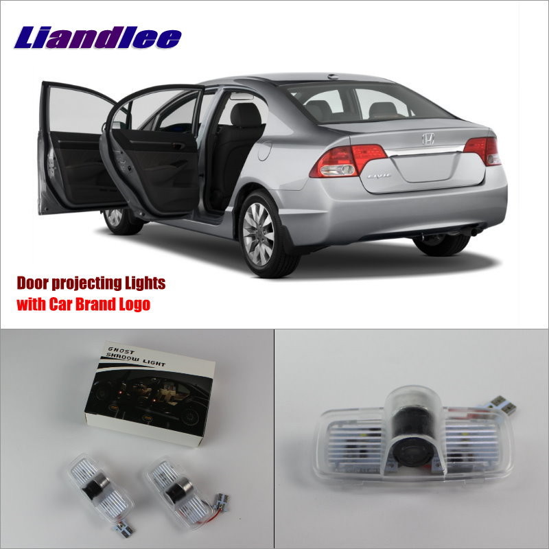 Liandlee Car LED Courtesy Welcome Lights For Honda For Accord 2003~2013 Projector Light Of Car Projector Lamp Vehicle Door Lamp