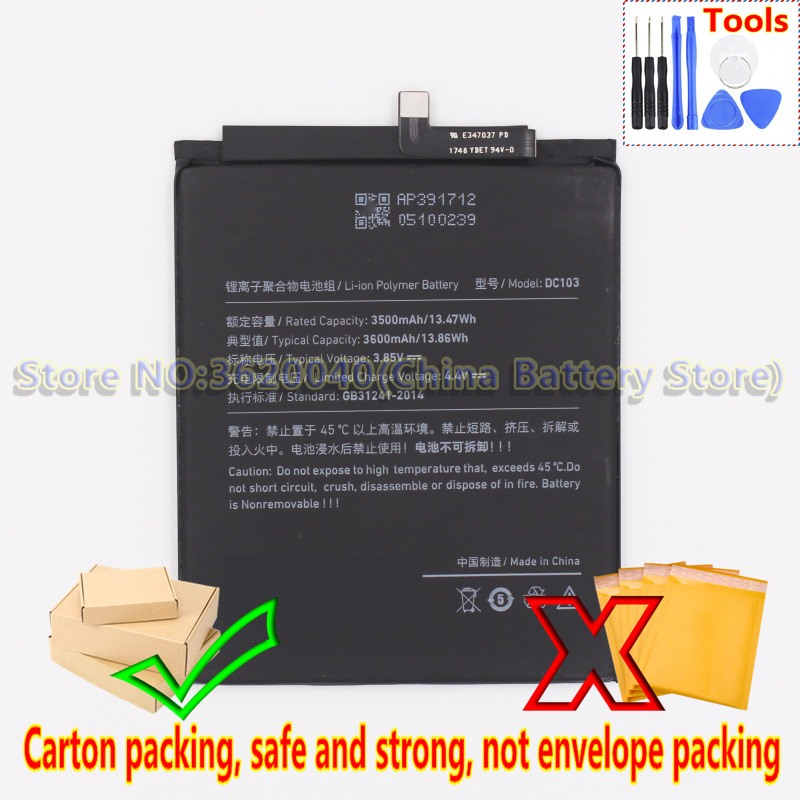 GND 3600mAh/13.86Wh DC103 Аккумулятор для Smartisan R1 DE106 OE106 Revolution One smartphone Li-Ion bateria Li-полимерная батарея