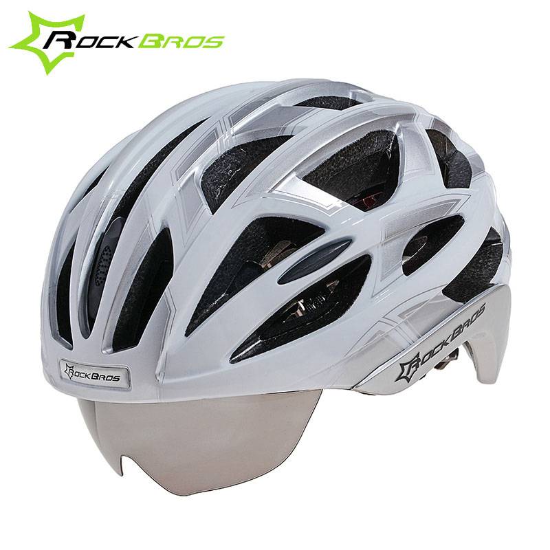 Rockbros Cycling Helmet MTB Mountain Road Bike Helmet 3 Lens Goggles Integrally-molded 32 Holes Bicycle Helmet Casco Ciclismo rockbros titanium ti pedal spindle axle quick release for brompton folding bike bicycle bike parts