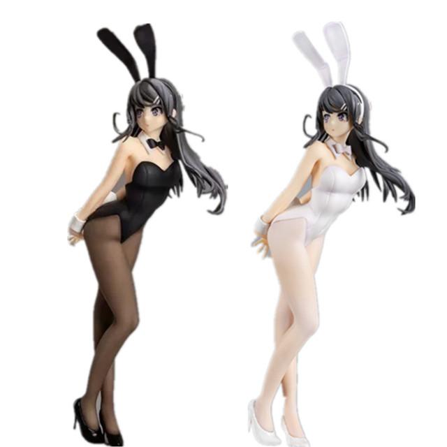 Anime Sexy Girls Rascal Does Not Dream of Bunny Girl Senpai Sakurajima Mai PVC Action Figures Toys Anime Figurine Toy Doll