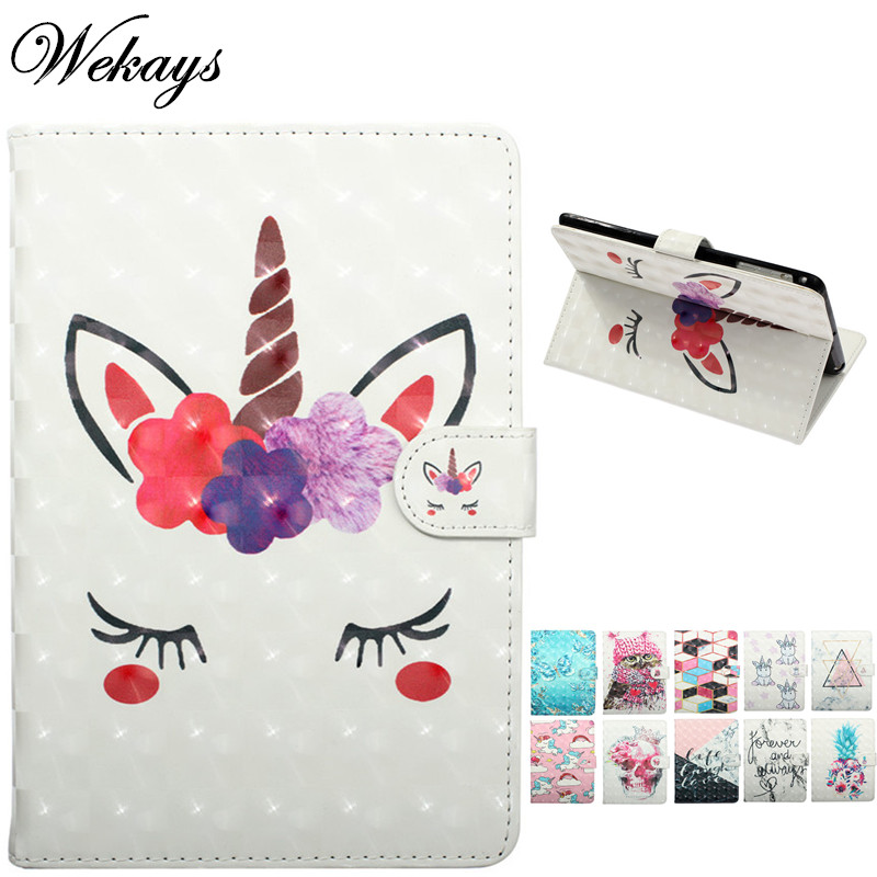 Wekays For Samsung Tab A6 10.1 T580 Cartoon Unicorn Leather Case For Samsung Galaxy Tab A 6 2016 10.1 <font><b>T585</b></font> SM-<font><b>T585</b></font> Cover Cases image