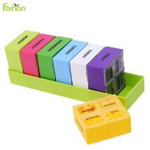 Еженедельный 7 Дней Портативный Pill Box Цветной Пластиковый Держатель 28 Слот Таблетки Дела Сплиттеры Медицина Организатор Контейнер Здравоохранения