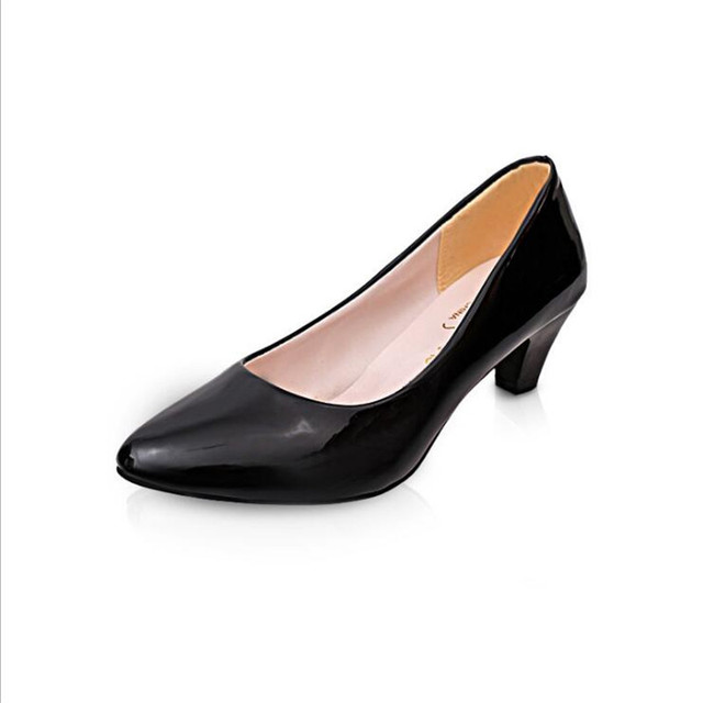 Ltarta Spring, 2017 New Women's Classic Pumps Shoes for Woman CLassic Black Matte black Low Middle Heel pumps for women .LSS-501