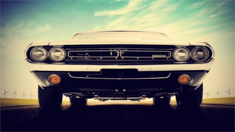 Cars Dodge Dodge Challenger Muscle Cars Inch Art Silk Poster