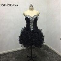 Модные черные коктейльные платья с открытыми плечами 2019, Украшенные бусинами серебряные кольца, халат, коктейльное платье, большие размеры
