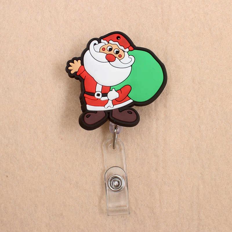 Kleuren Gelukkig Kerstman Stijl Clown Intrekbare Creatieve Badge Kaarthouder Reel Verpleegkundige Tentoonstelling Enfermera Naam Card Borst