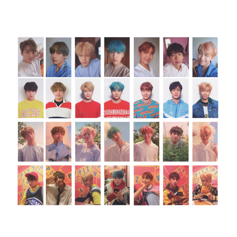 7Pcs /Set KPOP BTS Bangtan Boys Album Love Yourself Self Made Paper Lomo Card Photo Card Poster HD Photocard yanzixg kpop bts bangtan boys album suga self made paper lomo card photo card poster hd photocard fans gift collection