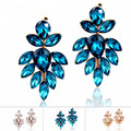 High Quality Costume Jewelry Fashionable Beauty Shine Crystal Drop Earrings For Women Wedding Party Gifts