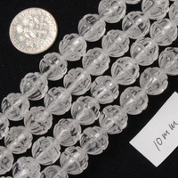 10mm Round Cave Flower White Rock Quartz Beads Natural Stone Beads DIY Beads For Jewelry Making