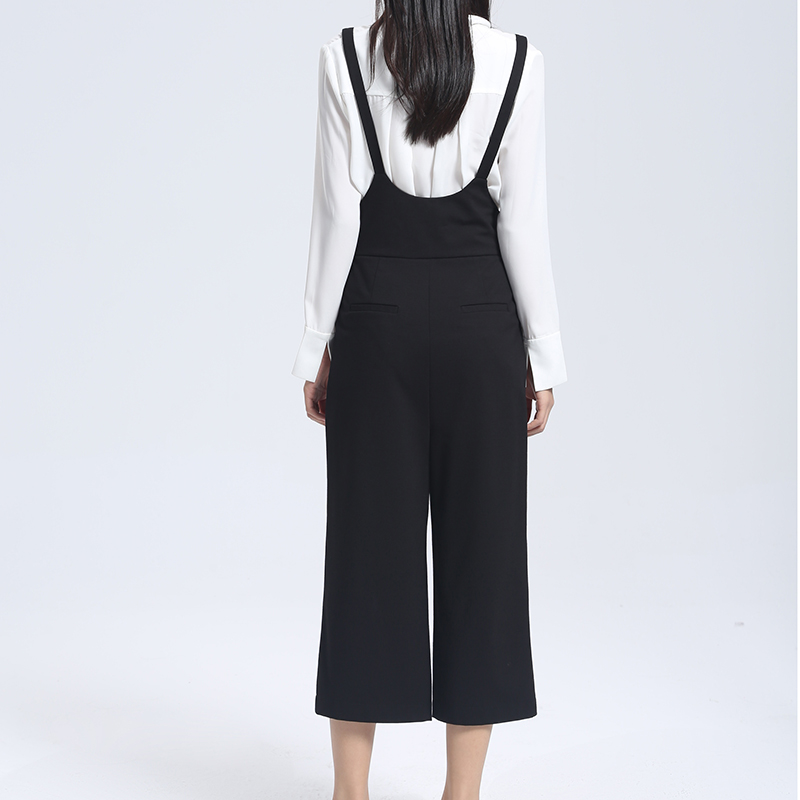 5a0f77269902 YERAD Fashion Womens Black Jumpsuit Suspender Pants Ankle Length Sleeveless  Wide Leg Rompers Overalls-in Jumpsuits from Women s Clothing   Accessories  on ...