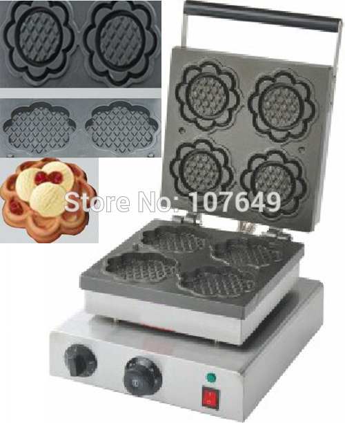 110v 220V Commercial Use Non-stick Electric Sunflower Waffle Cone Maker Iron Machine Baker коврик багажника полиуретан чёрный sd norplast npa00 t55 150 для mazda 6 2012 2017