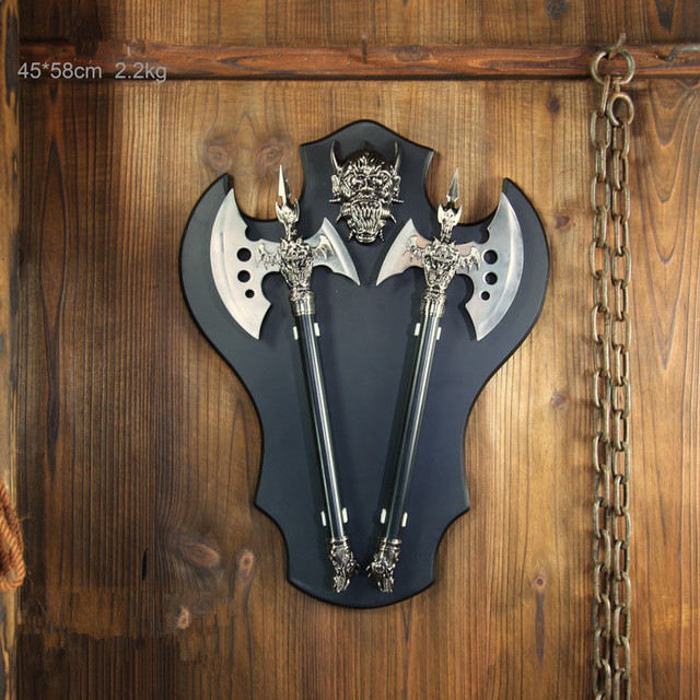 Imitação Antigo Machado Cavaleiro Escudo Armadura Bar Home Hotel Decoração