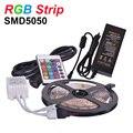 RGB LED Strip Light SMD5050 DC12V Flexible LED RGB Light Tape Lamp 60LED/m 5m 300LED,Power Supply 5A,Remote Controller,Receptor