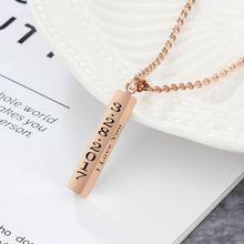 Strip Pendant Unisex Fashion Necklaces & Pendant