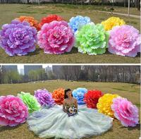 Creative Chinese Handmade Peony Flowers Bamboo Frame Umbrella Decorative Parasol Gift Women Umbrella Wedding Ornaments