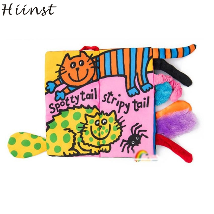 HIINST Baby Animal Tails Education books of cat Cloth Toy Development Learning Best seller S20