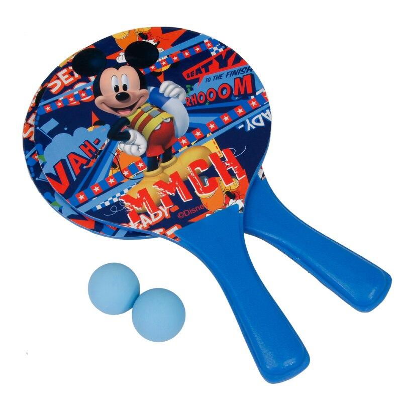 For Kids Adults Backyard Garden Toys Game Beach Ball Paddles Rackets Wooden Tennis Badminton Racquet