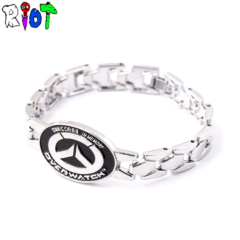 game Blizzard Overwatch LOGO Bracelet OW Silver Metal Charm Bracelets & Bangles men jewelry alloy Bracelace Unisex Drop shipping