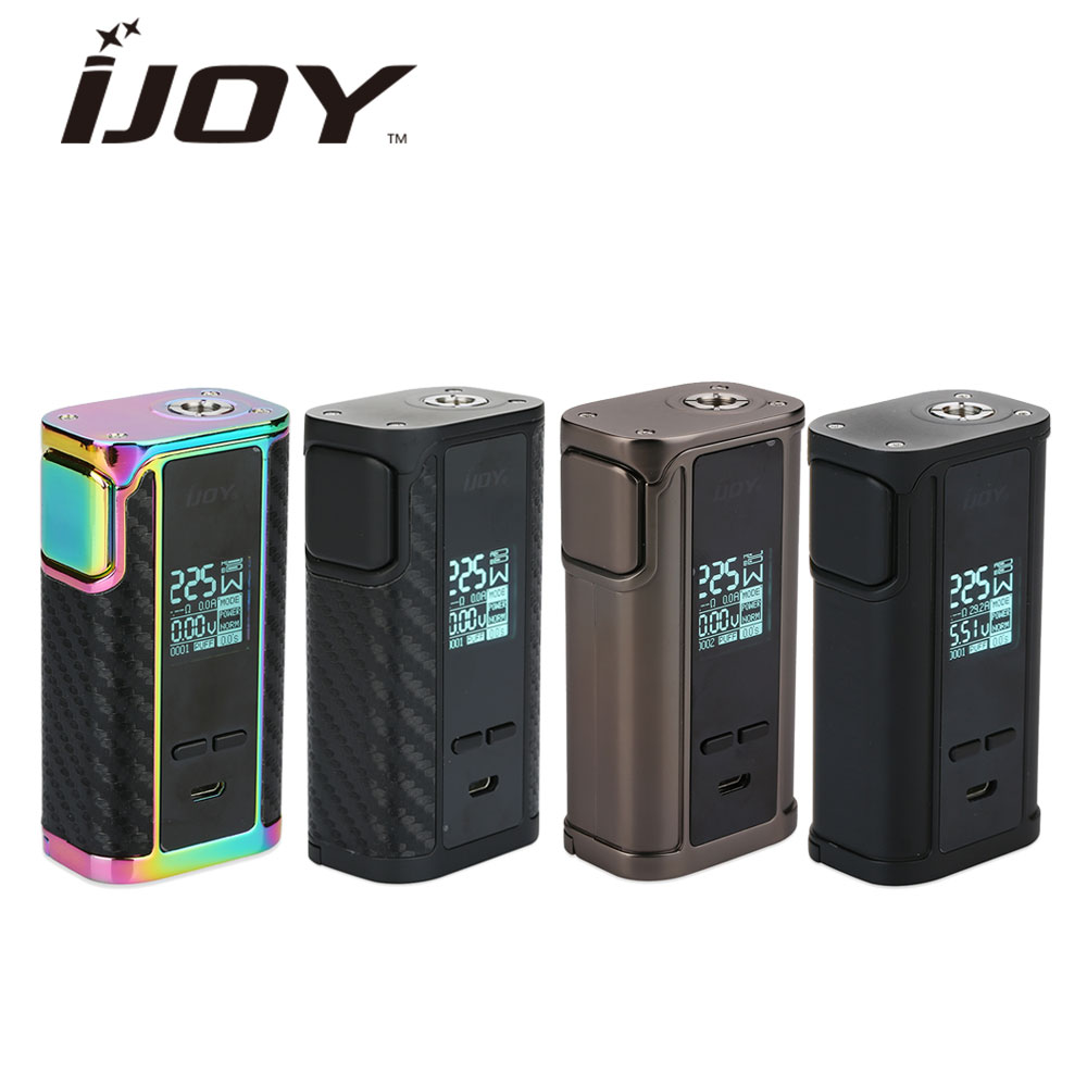 Hot Original IJOY Captain PD1865 TC Vape Box MOD Max 225W No 18650 Battery for IJOY RDTA 5S Tank E-Cigarette Box Mod vs DRAG Mod new original innokin mvp4 qc 100w tc box mod battery 4500mah mvp4 mod by aethon microchip for isub v tank e cigarette 510