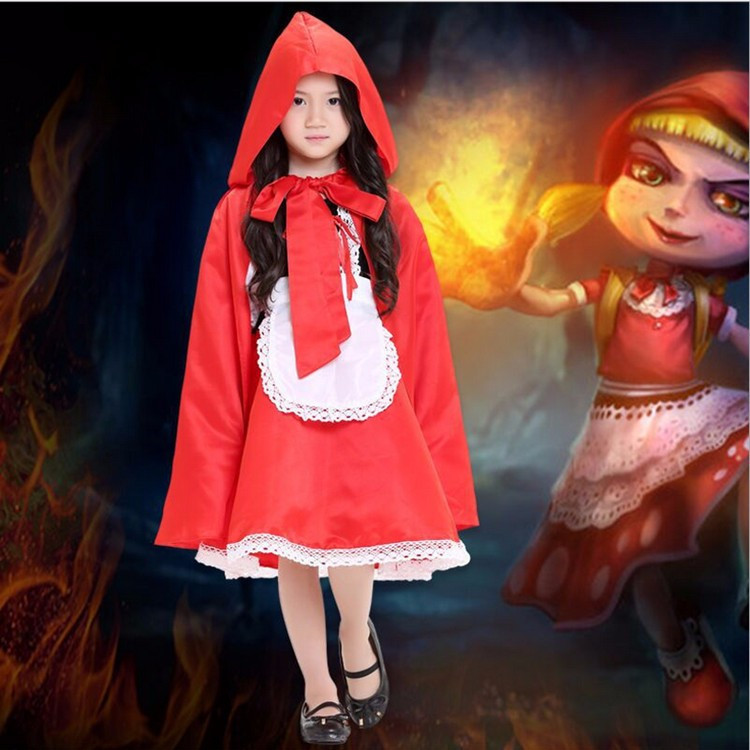 Kids Little Red Riding Hood Fancy Dress Costume Storybook Outfit Book Week Party