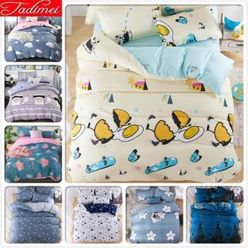 3/4 pcs Bedding Set Adult Kids Child Soft Bed Linen Quilt Comforter Duvet Cover Single Full Double Queen Super King Size 150x200
