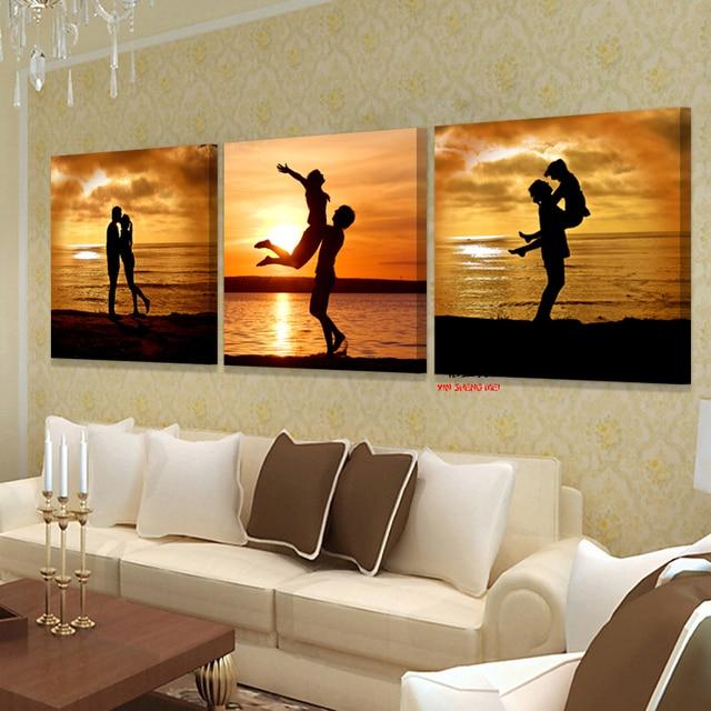 Современный 3 шт. холст schilderij печатает фотографии Модульная картина искусства для гостиной деко абстрактные красивые масло искусства