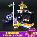 Lepin 07058 Nuevo Genuino de la Serie de Películas de Batman El Catwoman Motocicleta Perseguir Juego de Bloques de Construcción Ladrillos de Juguetes Educativos 70902