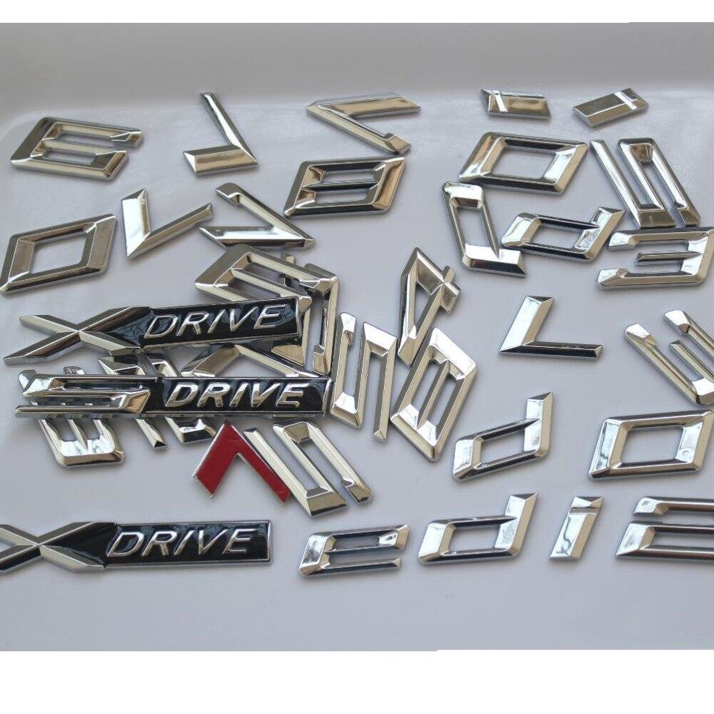 Chrome BMW 2 series F22 F45 220i Boot Trunk Lid Emblem Badge Letter
