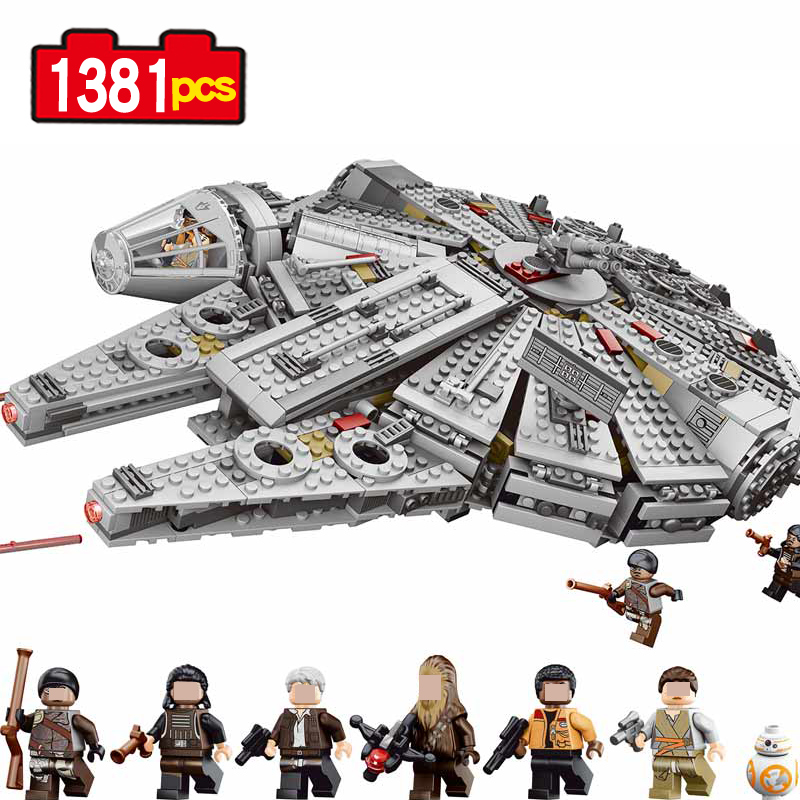 1381pcs Star Wars Millennium Falcon Spaceship building blocks set Toys Action Figures Christmas birthday Gifts ripped denim boyfriend jeans