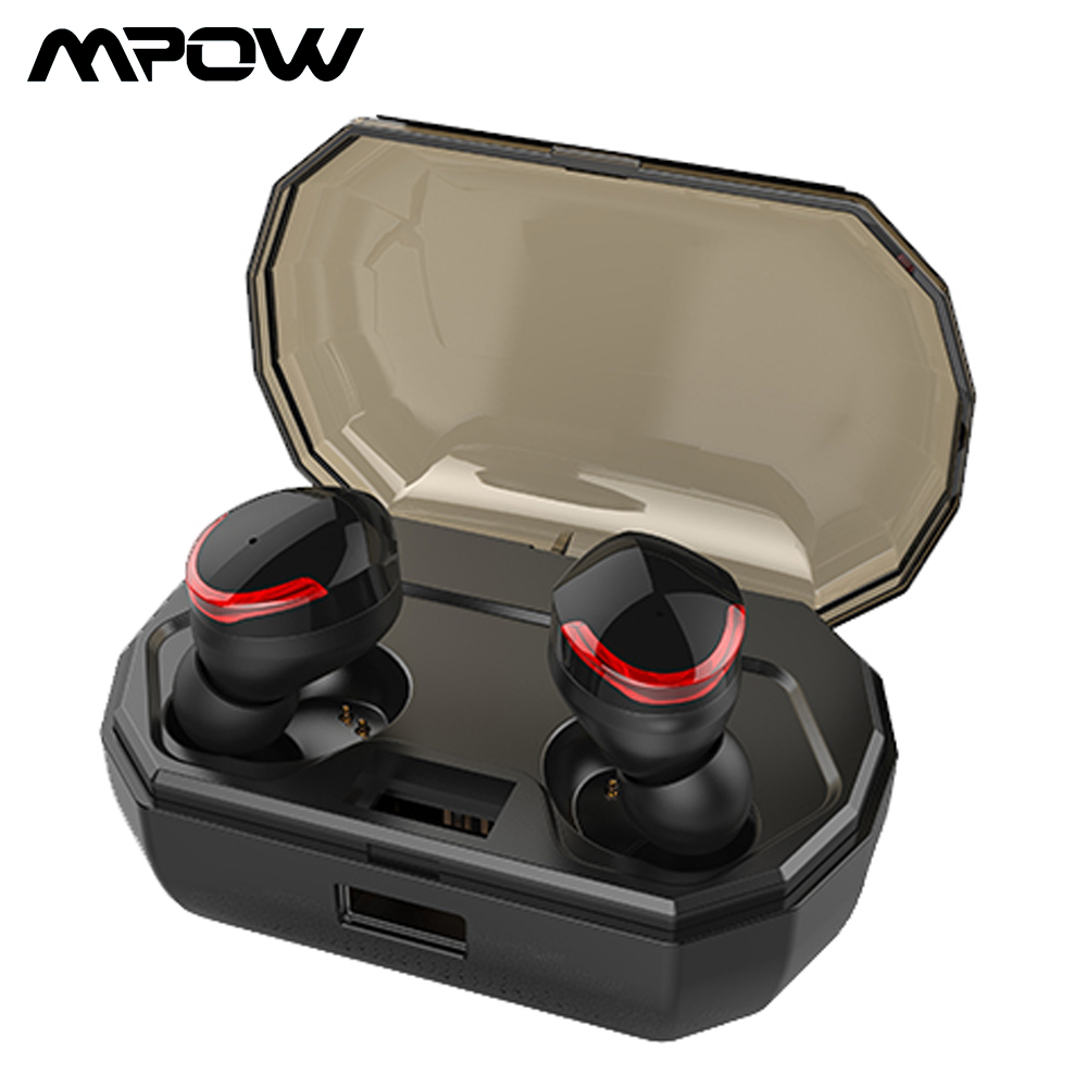 Mpow SY417 Bluetooth 5 0 TWS Earphone True Wireless Stereo Earbuds IPX6 Waterproof Earphone With 2000mAh