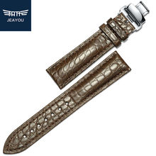 JEAYOU Men Real Alligator Watch Strap Genuine Leather Watch Band For Casio/Tissot/Longines 14mm 16mm 18mm 19mm 20mm 22mm 24mm