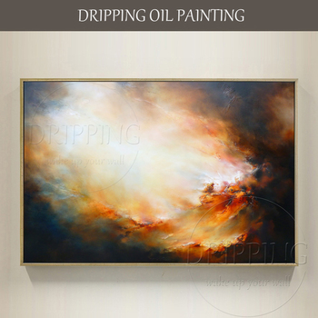 Top Artist Pure Hand-painted High Quality Abstract Oil Painting for Wall Art Decoration Beautiful Colors Abstract Oil Painting