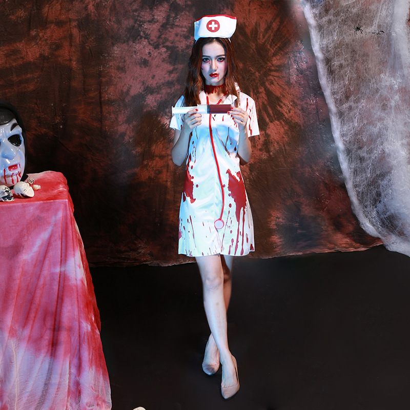 6b4322678e4d9 Adult Women Zombie Nurse Halloween Costume-in Scary Costumes from ...