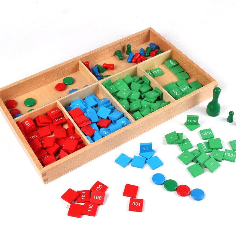 Montessori teaching aids children's educational toys stamp Montessori wooden early childhood teaching aids children's stamp game   - title=