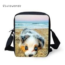 ELVISWORDS Children Messenger Bags Cute 3D Dogs Printing Shoulder Bag Handbags Adorable Casual Satchel Tactical for Girls Boys