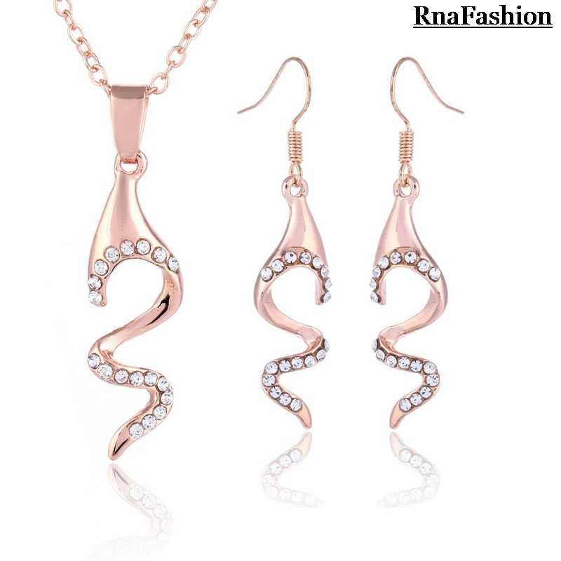 RNAFASHION zestawy stary naszyjnik wisiorek i dynda kolczyki biżuteria Para jak Mulheres Casamento Brinco kobiety