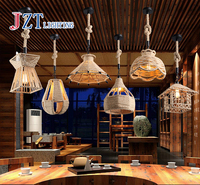 Z American Vintage led lamp Rope creative store ceiling lamp pendant lighting Cafe loft lamp restaurant droplight