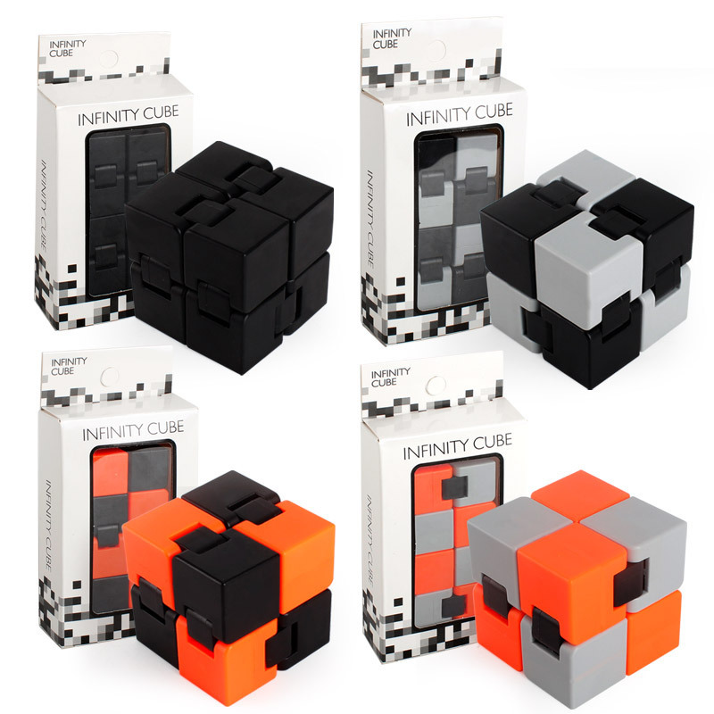 Infinity Cube Mini Fidget Toy Finger EDC Anxiety Stress Relief Magic Cube Blocks Kids Funny Toys