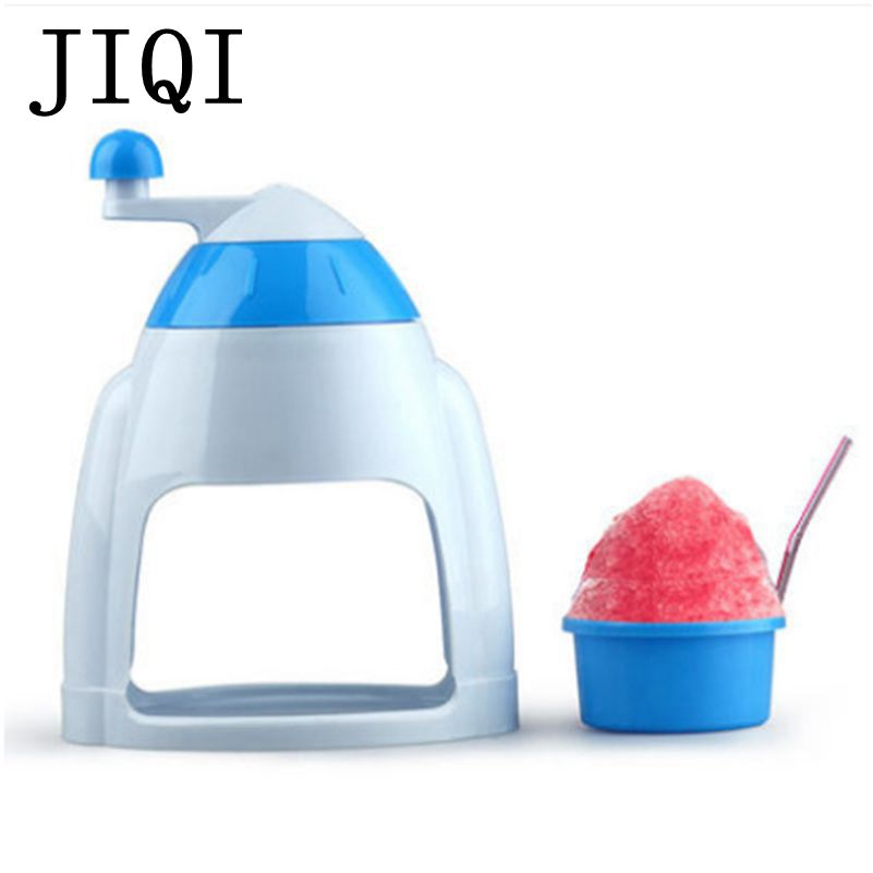 JIQI Household Manual Ice Crusher Shaver Hand Crank Mini Ice shaving Machine snow cone smasher grinder DIY ice cream Grinding jiqi household snow cone ice crusher fruit juicer mixer ice block making machines kitchen tools maker