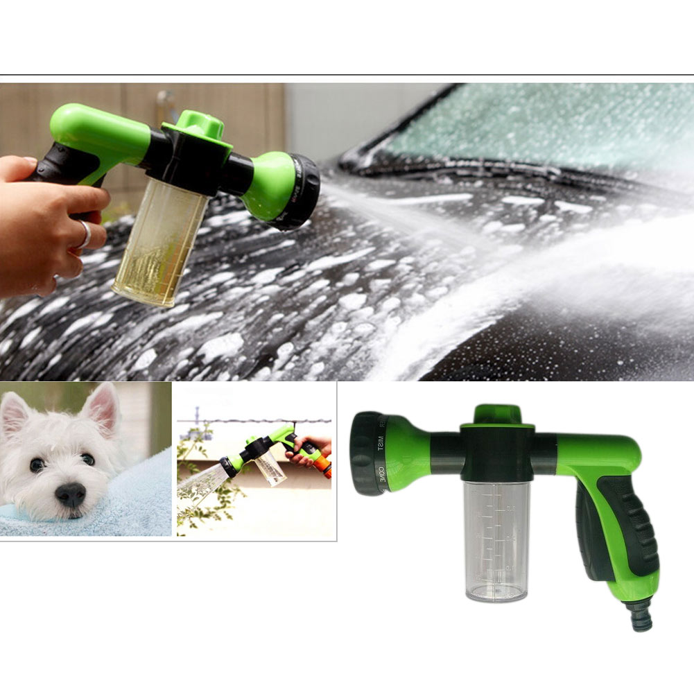 High pressure multifunction 8 spray adjustable water gun pattern auto car foam water for car wash watering tools hot
