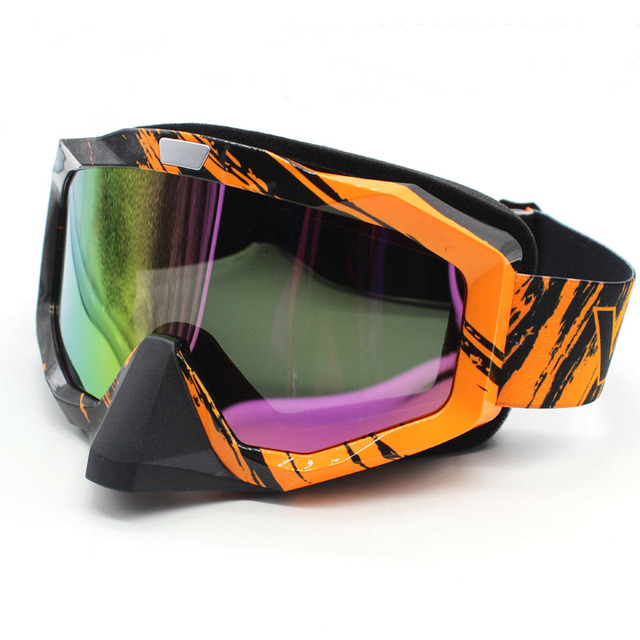 013687043cd Orange Motocross Goggles Cross Country Skis Snowboard ATV Mask Oculos Gafas Motorcycle  Helmet MX Goggles Spectacles