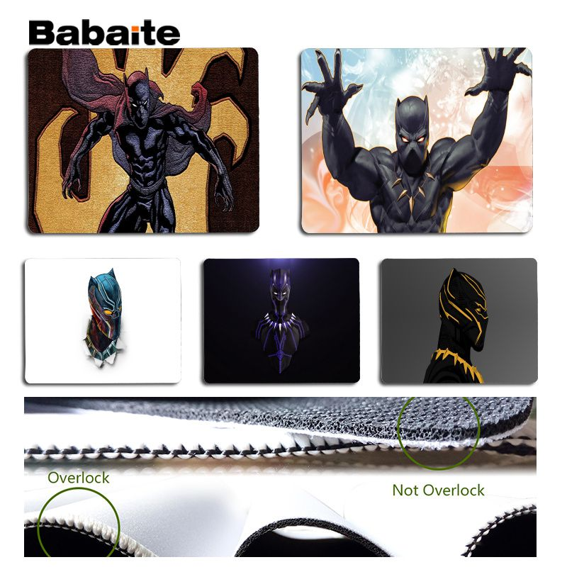 Babaite My Favorite Black Panther Large Mouse pad PC Computer mat Size for 18x22cm 25x29 ...