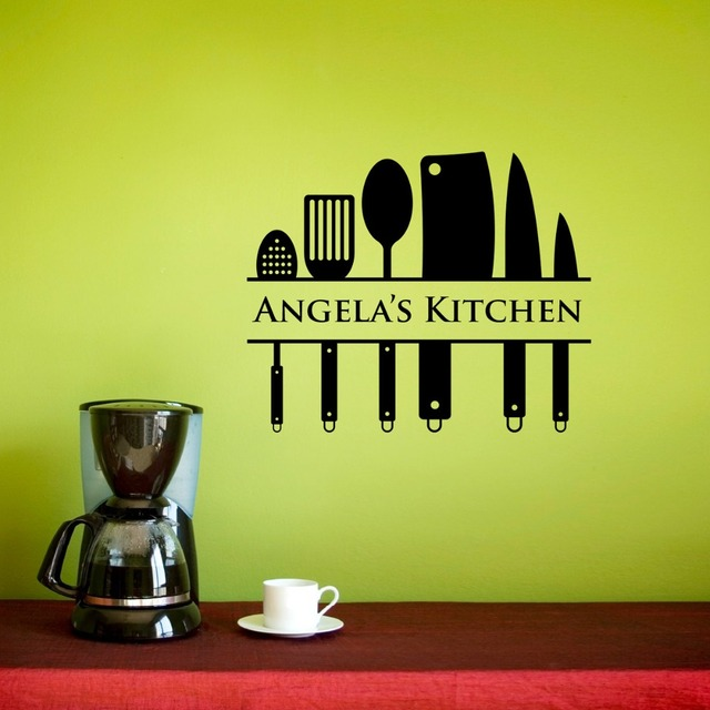 Kitchen Wall Decal Chef Vinyl Wall Decal Personalized Name Kitchen ...