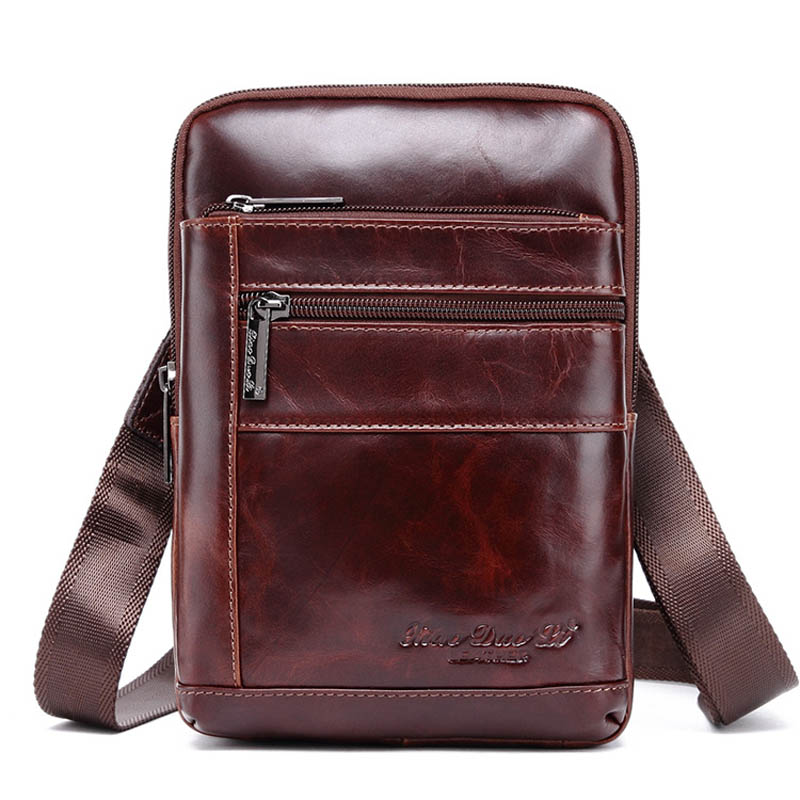 New Genuine Leather 8' Casual Bag Men's Cross Body Shoulder Bags Men Messenger Bag Male Cowhide Chest Pack Sling Bags brand genuine leather casual chest pack sling bag men s cross body shoulder bags male cowhide messenger bag for ipad mini wallet