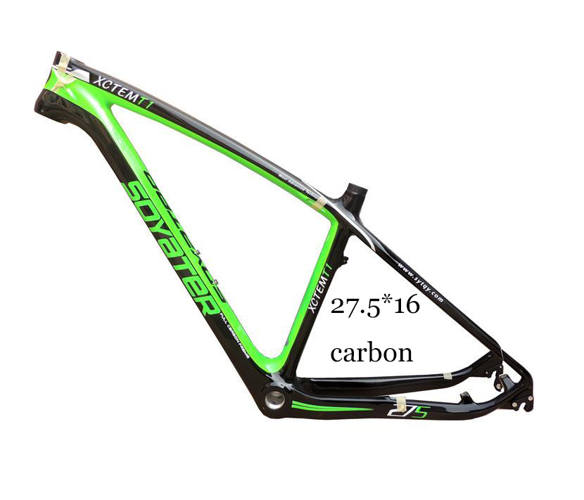 SY 27.5 Full Carbon Bike Frame Tapered Headset 16 Inch  Mountain Bike With Disc Brake