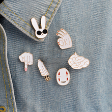 7pcs/set Fashion Denim Jacket Brooch Gift for Friend
