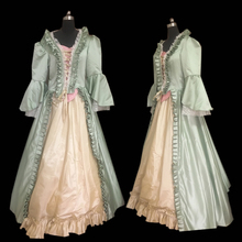 купить New green Vintage costumes 18th Duchess Retro medieval Renaissance Reenactment Theatre Civil war Victorian dress D-300 дешево