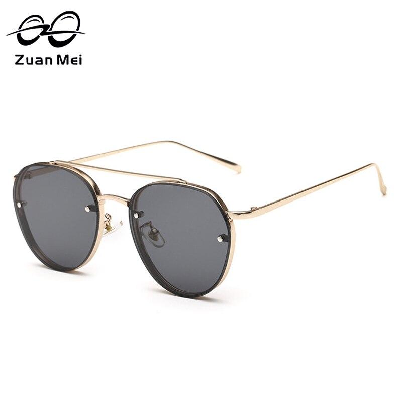 Zuan Mei Women s Oval Lens Alloy Frame Sunglasses font b Fashion b font Sunglasses for