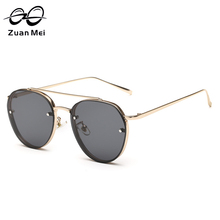 Zuan Mei Women's Oval Lens Alloy Frame Sunglasses Fashion Sunglasses for Female Outdoor Driving UV400 Polarized Sun Glass ZM857