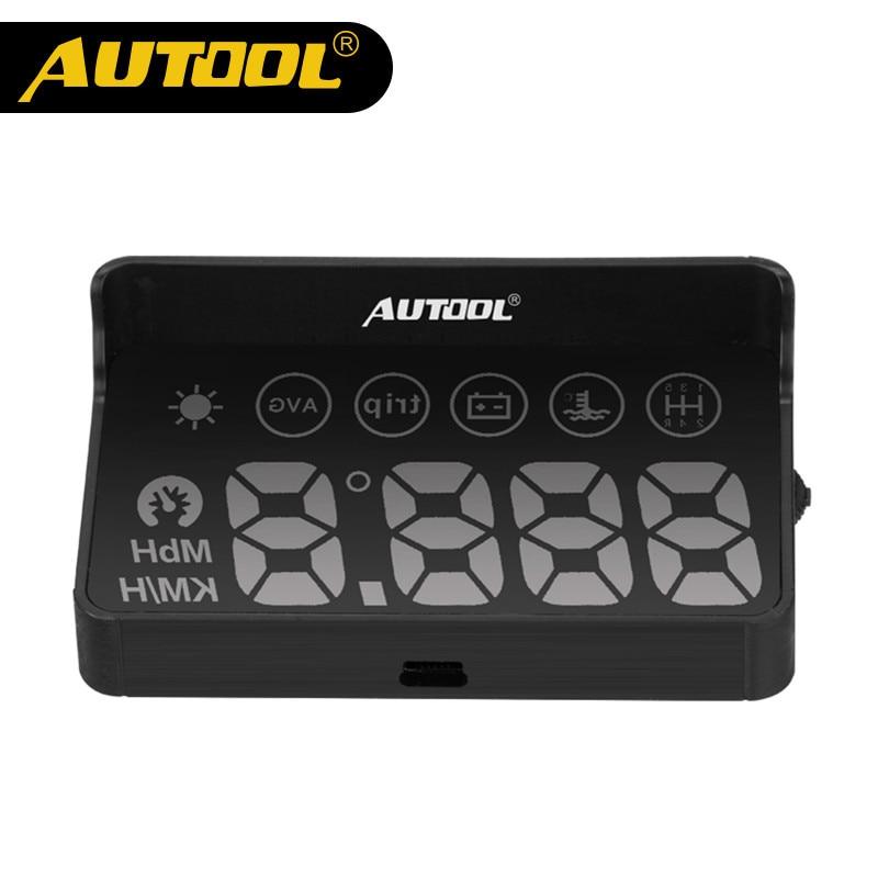 Original AUTOOL X30 OBD HUD Car styling Universal Car hud head up display speedometer Smart Digital car speedometer